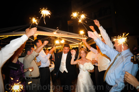 the special wedding day sparkler send off
