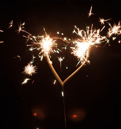 Gold Heart Sparklers | Weddings | BuySparklers.com
