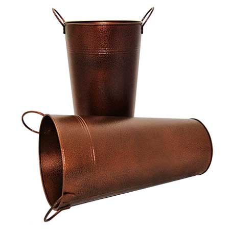Brown Metal Bucket