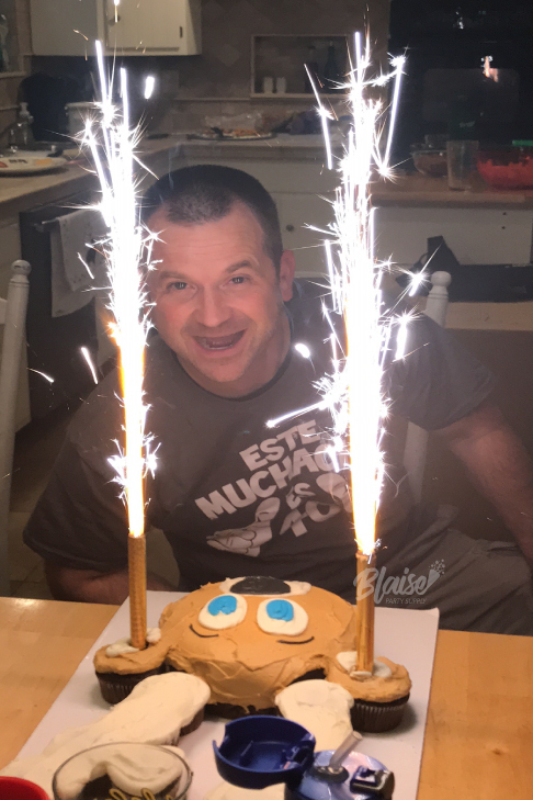 6 Inch Bottle Top Cake Sparklers