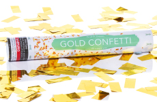 Gold Metallic Confetti Cannon