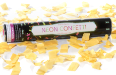 Orange Neon Confetti Cannon