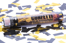 Black and Gold Confetti Cannon