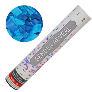 "12"" Blue Gender Reveal Confetti Cannons"