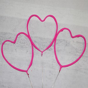 Pink Heart Shaped Sparklers Wedding Packages ( 36 Sparklers )