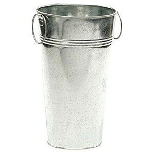 "11"" Galvanized Sparklers Display Bucket"