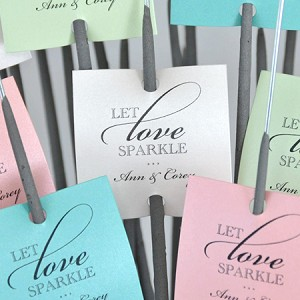 """Let Love Sparkle"" (Square) Custom Tags"